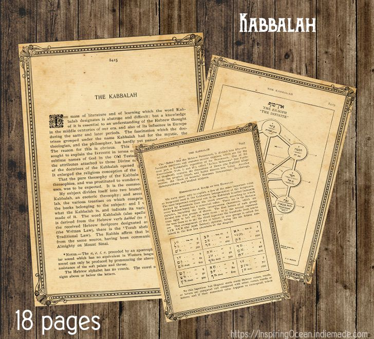 Book of Shadows pages 26 pages,  pdf file about Kabbalah