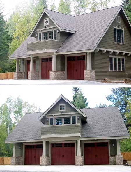 Carriage House Plans, Craftsman House Plans, Carriage House Garage