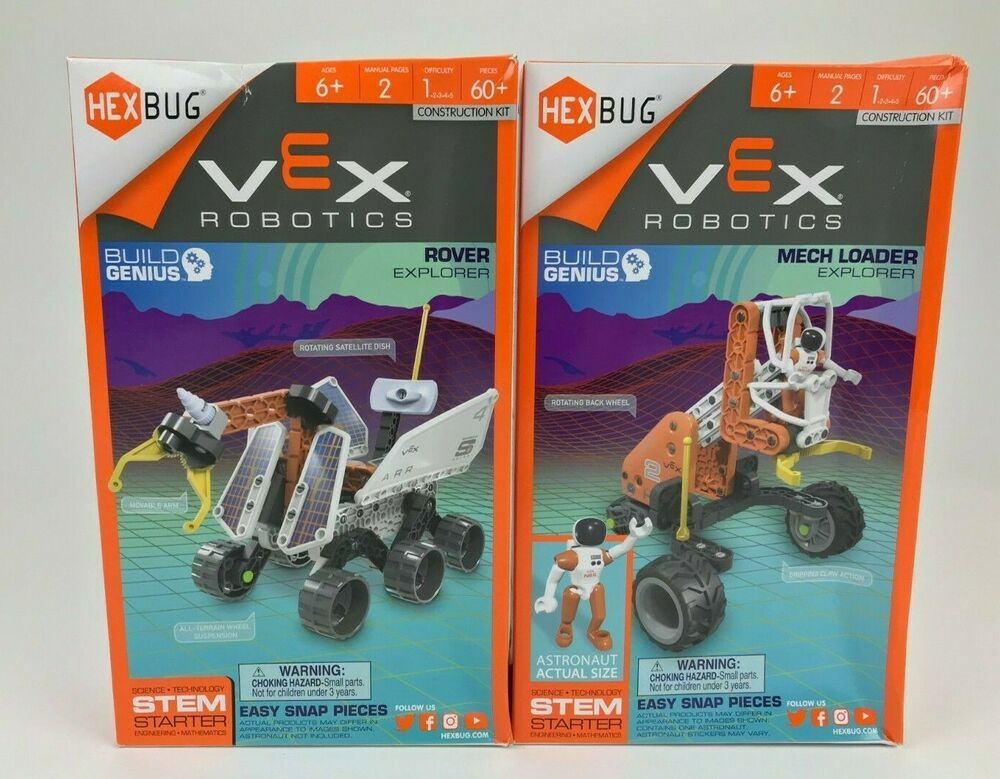 New Hexbug Vex Robotic Kits Lot Of 2 Rover Mech Loader Explorer