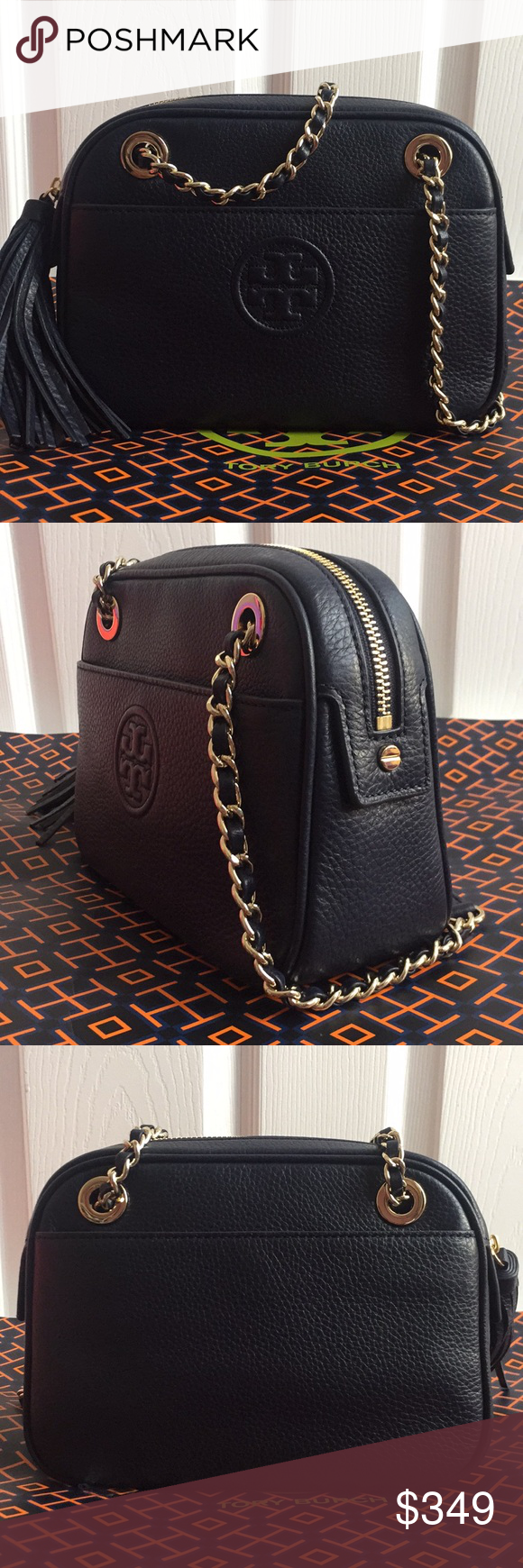Tory Burch Bombe Crossbody W. Chain Bag This is an original Tory Burch  handbag and as described. It is brand new with tag attached. 114a9fc987