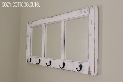 Old Window Coat Rack With Mirrors Old Window Projects Window