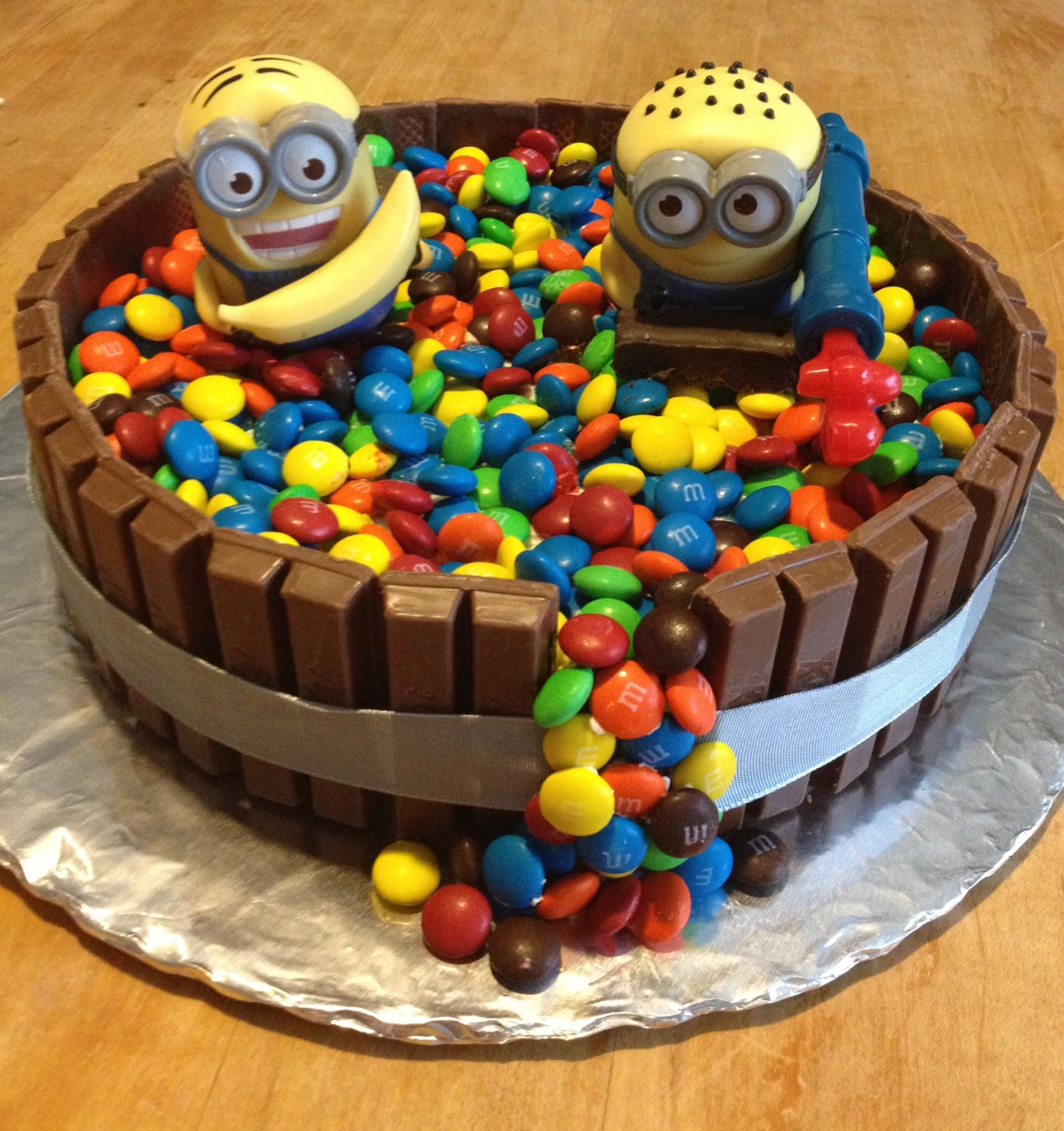 Gateau kitkat m&m's nutella
