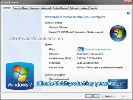 windows 7 ultimate product key 32 bit keygen generator