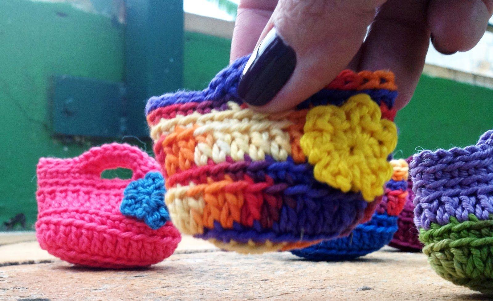 Mini Bolsinhas De Croche Com Passo A Passo Com Imagens Mini