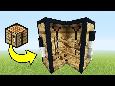 Minecraft Tutorial How To Make A Crafting Table House House In A Crafting Table Youtube Craft Table Minecraft Tutorial Crafting Table Minecraft