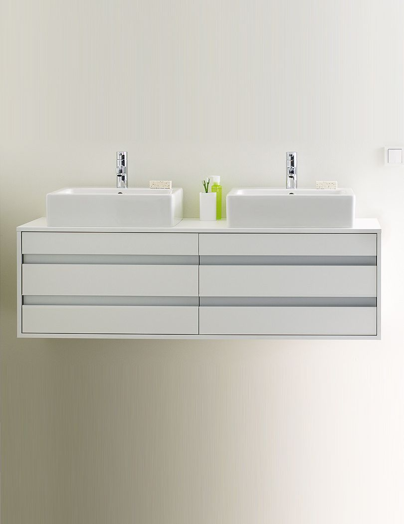 Duravit Ketho Doppelwaschtisch Duravit Ketho 550 X 1400mm Wall Hung Vanity Unit With 4 Drawers