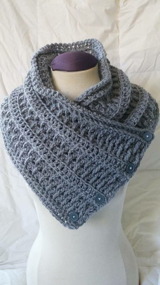 Women\'s buttoned scarf pattern women\'s by EndlessCrochetCreat ...