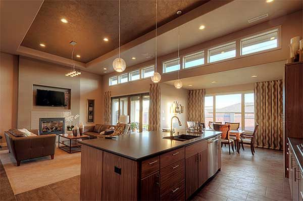 Plan 69495am Efficiency At Its Best Open Floor House Plans Open Floor Plan Kitchen Contemporary House Plans