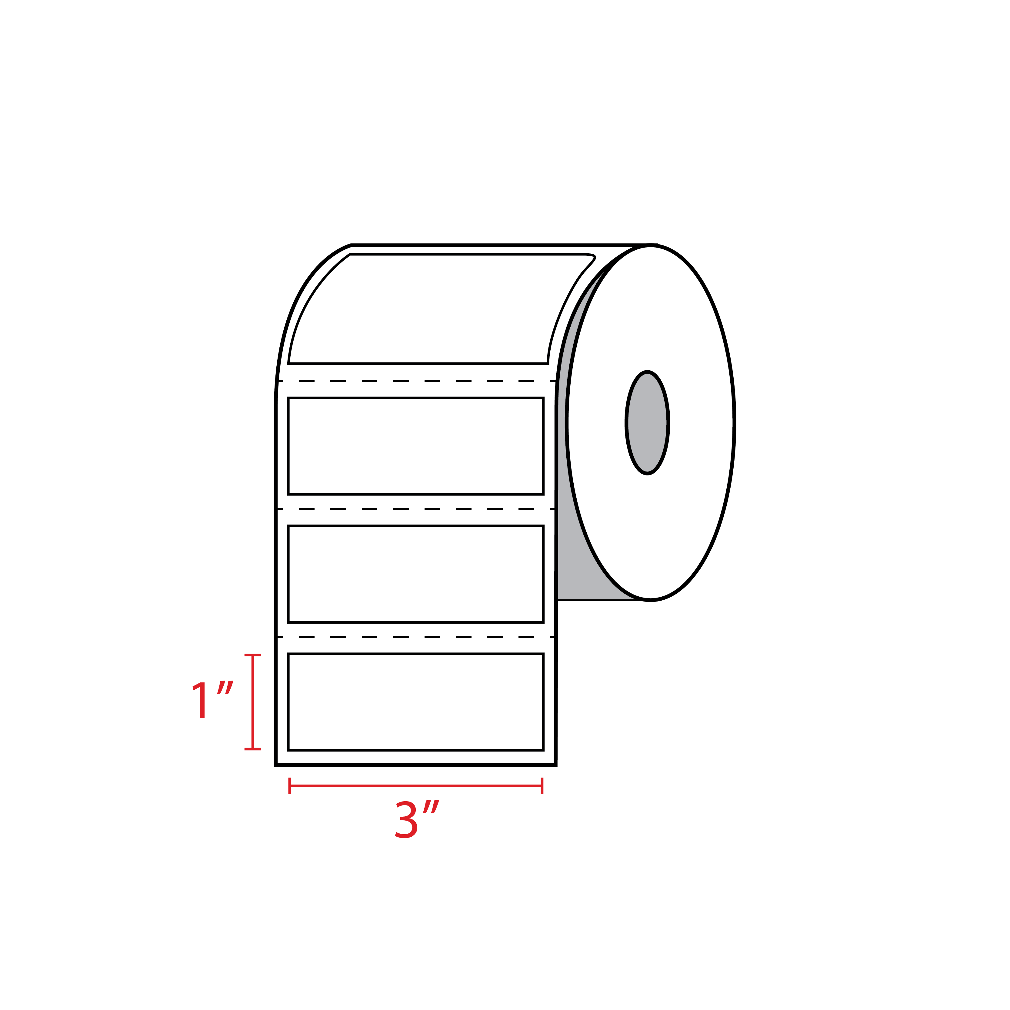 Zebra Labels 3x1 Barcode Sticker Thermal Label Roll 10010043 | Zebra