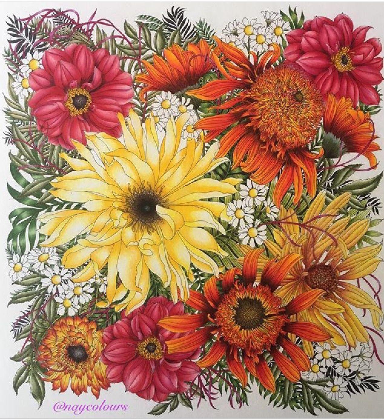 Pin von Ruth O\'Hara auf Floribunda | Pinterest | Malbücher ...