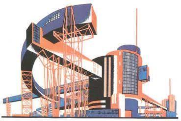 Iakov Chernikov's Hammer and Sickle Architectural Fantasy (1933)