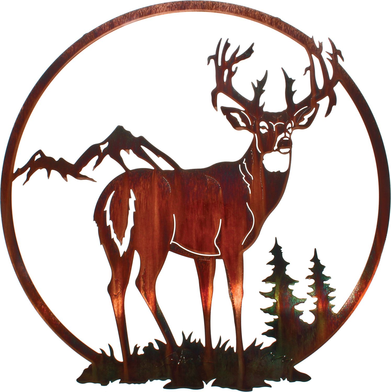 "26"" Deer Wall Art Hanging wall"