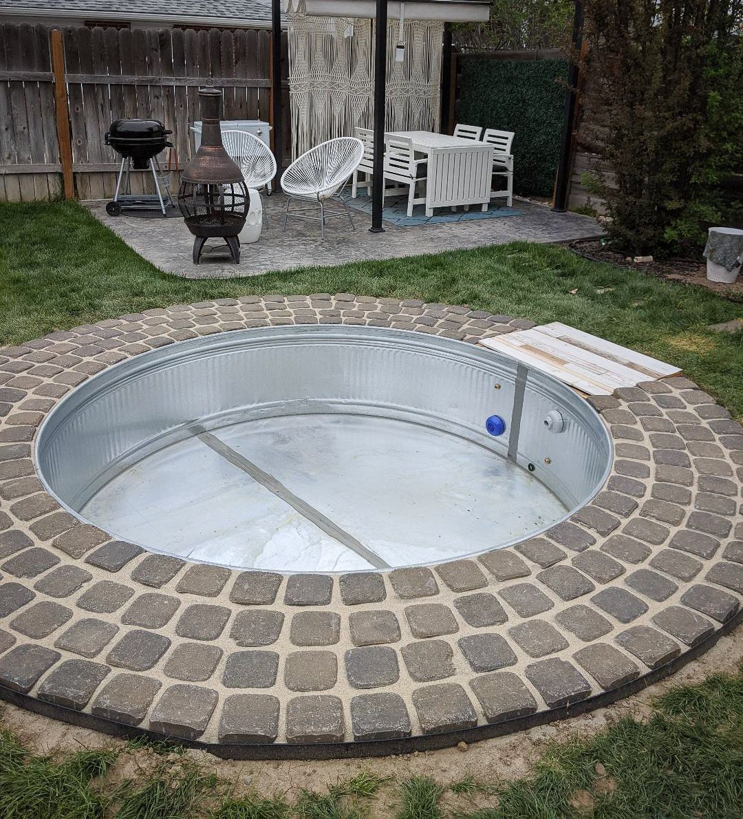 In Ground Stock Tank Pool And Hot Tub Ditching Normal Stock Tank Pool Diy Tank Pool Stock Tank Pool