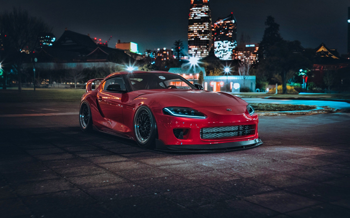 Download Wallpapers Toyota Supra Gr Tuning Supercars 2020 Cars Red Supra A90 Japanese Cars 2020 Toyota Supra Toyota Besthqwallpapers Com Toyota Supra Japanese Cars Supra