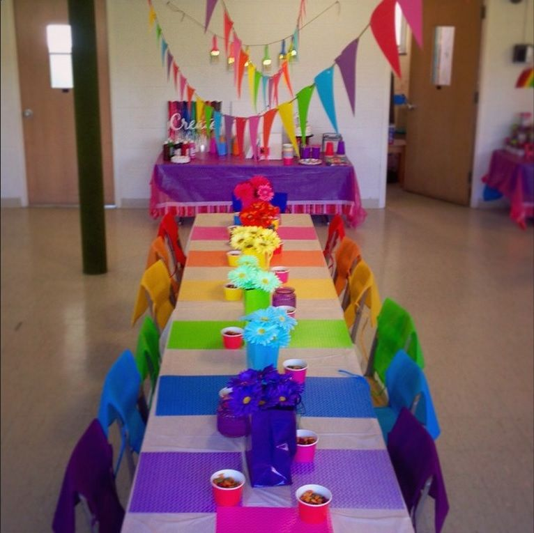 Birthday Party, Painting Party, Rainbow Party Place Mats