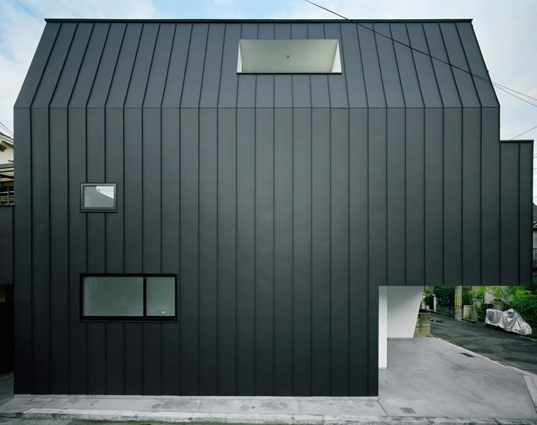 Hi House Black Galvanized Steel Exterior Porch Design House With Porch Front Porch Design