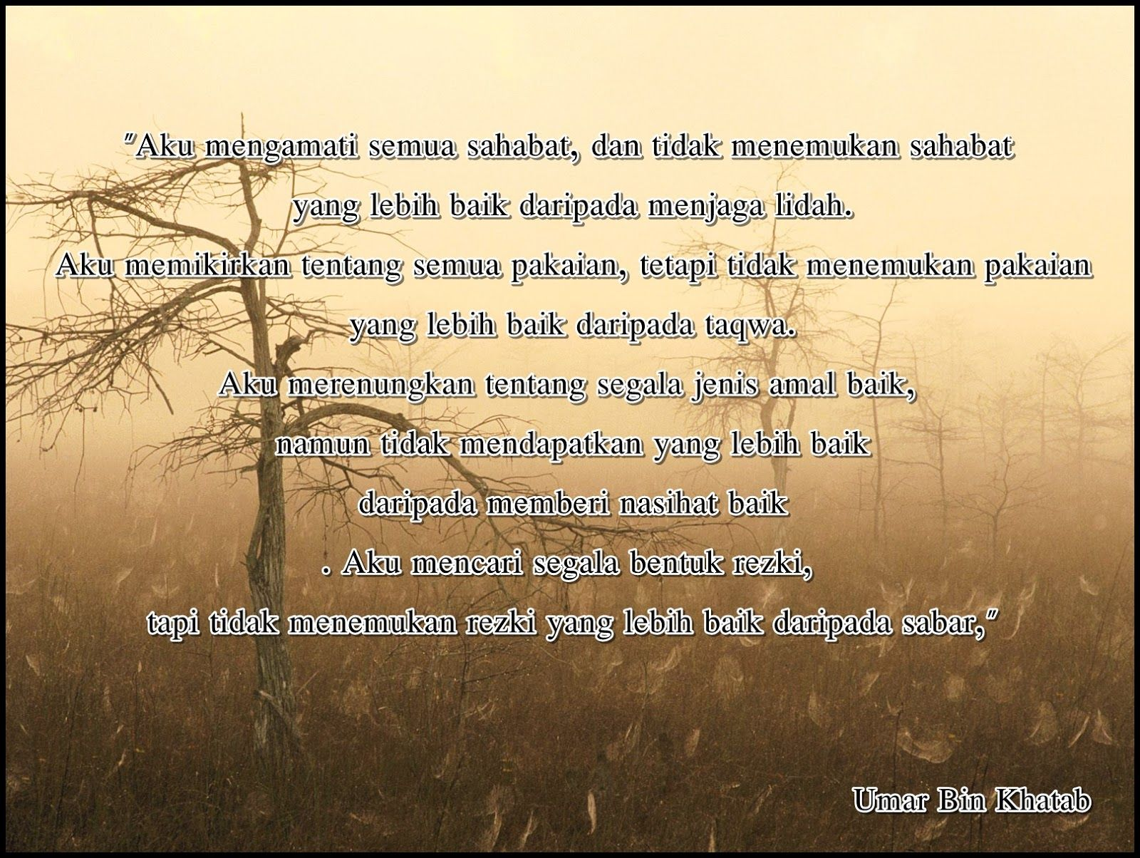 Kata Kata Mutiara Bijak Umar Bin Khatab Jdsk Dengan