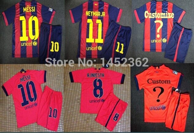 e419e791e73 Find More Sports Jerseys Information about Hot Sale 14/15 Top Kids kits  MESSI jersey