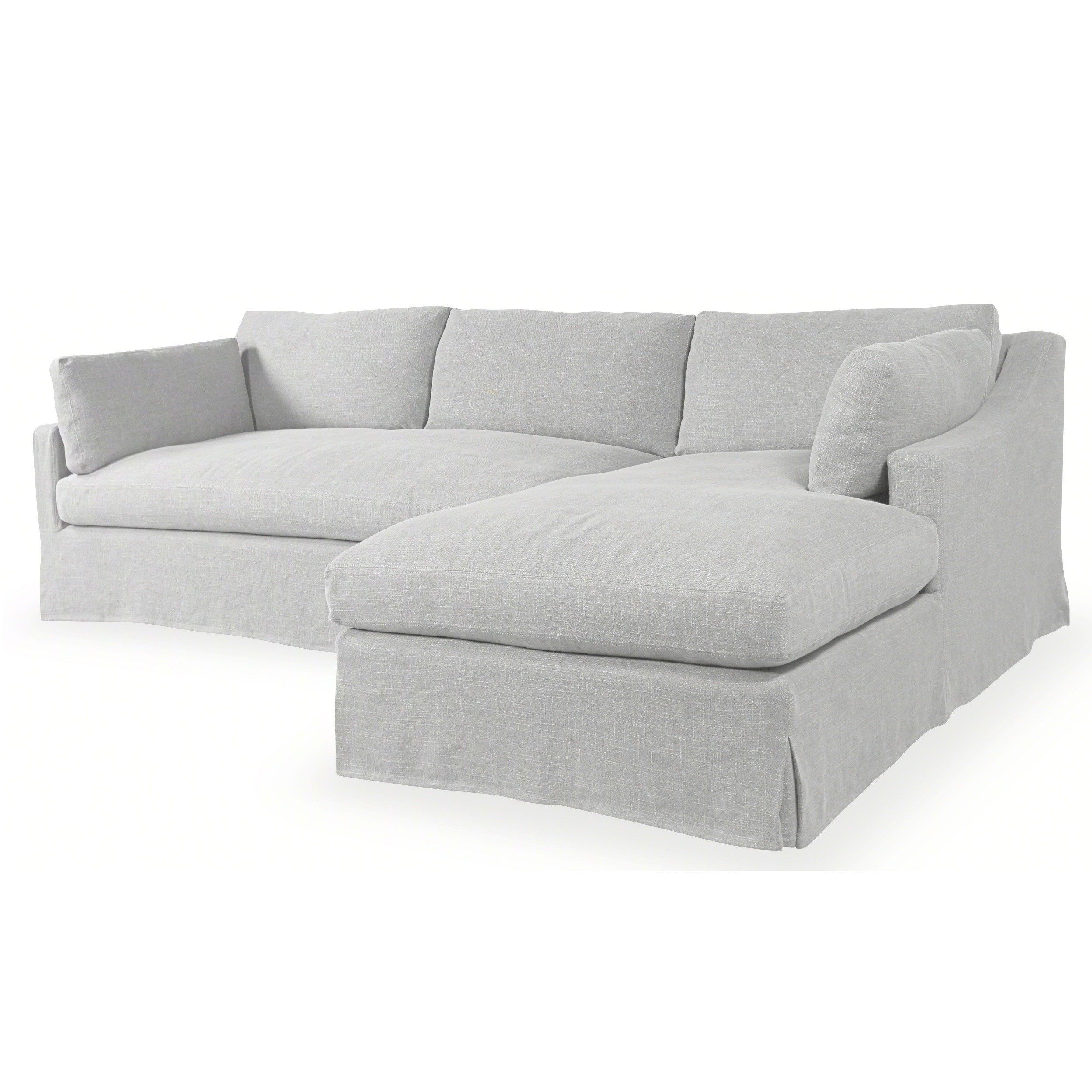 Astounding Dune Slip Covered Sectional Kw8709 Linen Living Room Onthecornerstone Fun Painted Chair Ideas Images Onthecornerstoneorg