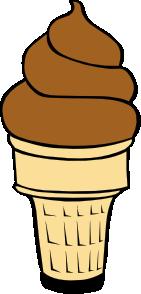 Chocolate Soft Serve Ice Cream Cone Clip Art