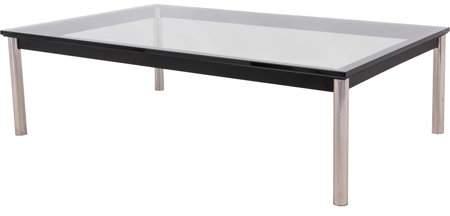 Leisuremod Remsen Rectangular Glass Coffee Table Coffee Table