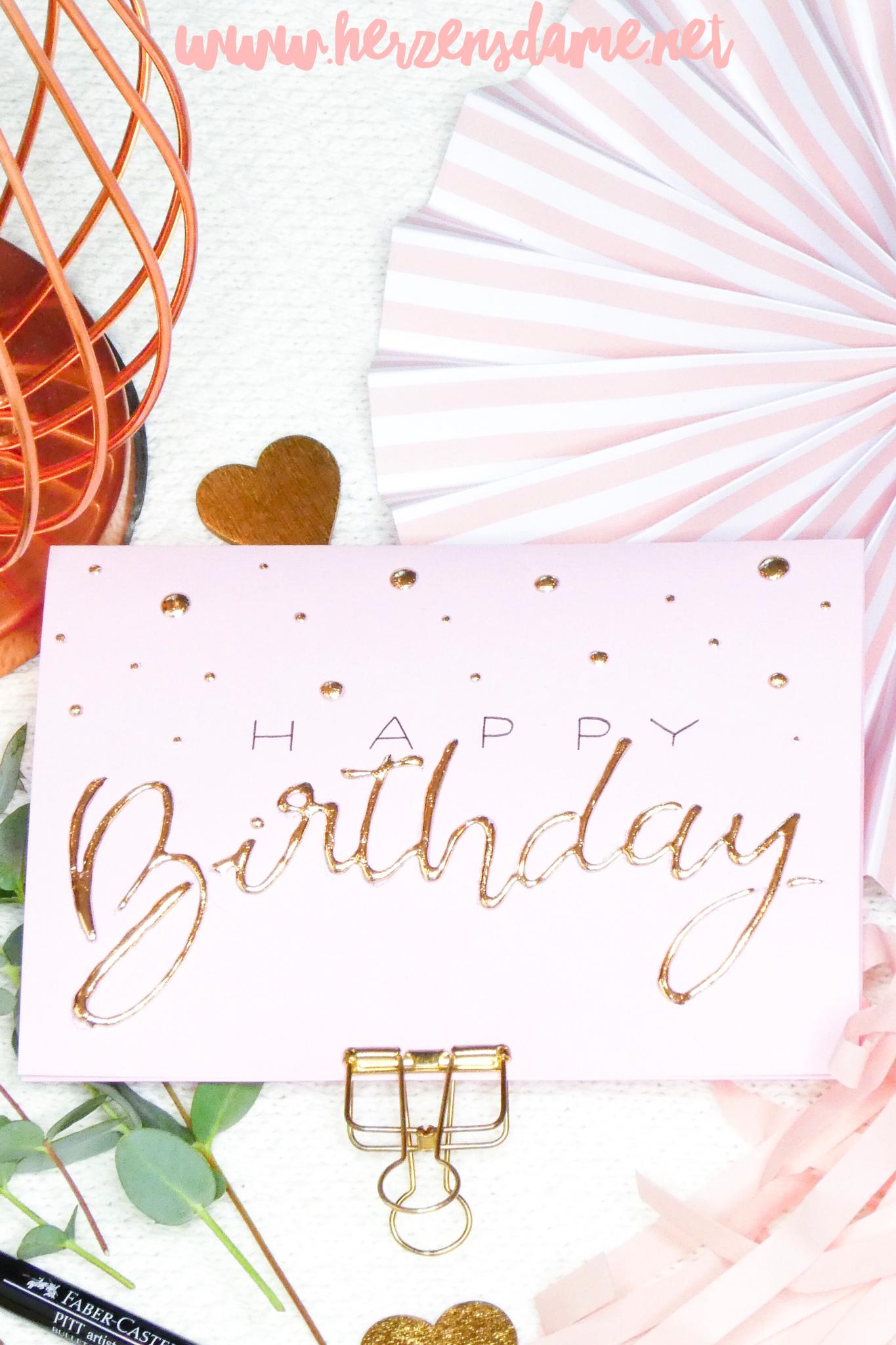 050821ce1c8cd Happy Birthday Geburtstag Geburtstagskarte Karte Geschenk Glückwünsche DIY  Idee Do it yourself selbstgemacht Lettering Handlettering Brushlettering