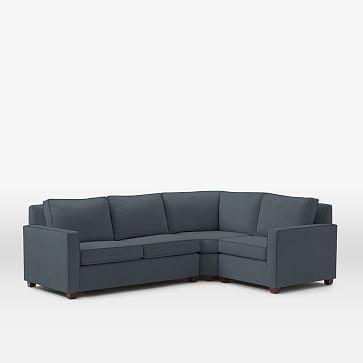 Henry Set 11 Wedge Left Arm Loveseat Right Arm Chair Linen Weave Regal Blue Furniture Modern Furniture Home Decor