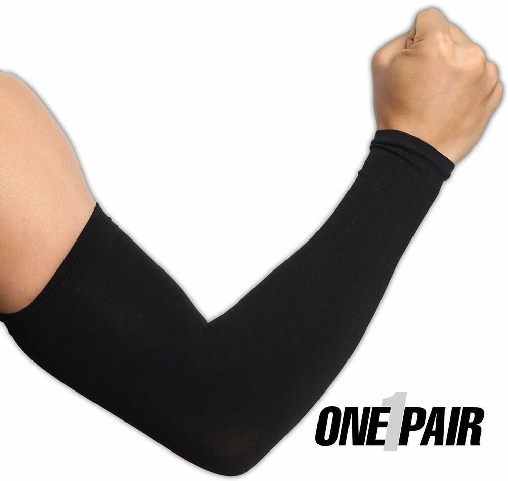 Pair Uv Protection Cooling Arm Sleeves Upf 50 Stretchy Moisture Wicking Toughoutdoors Cycling Outfit Arm Sleeve Compression Sleeves