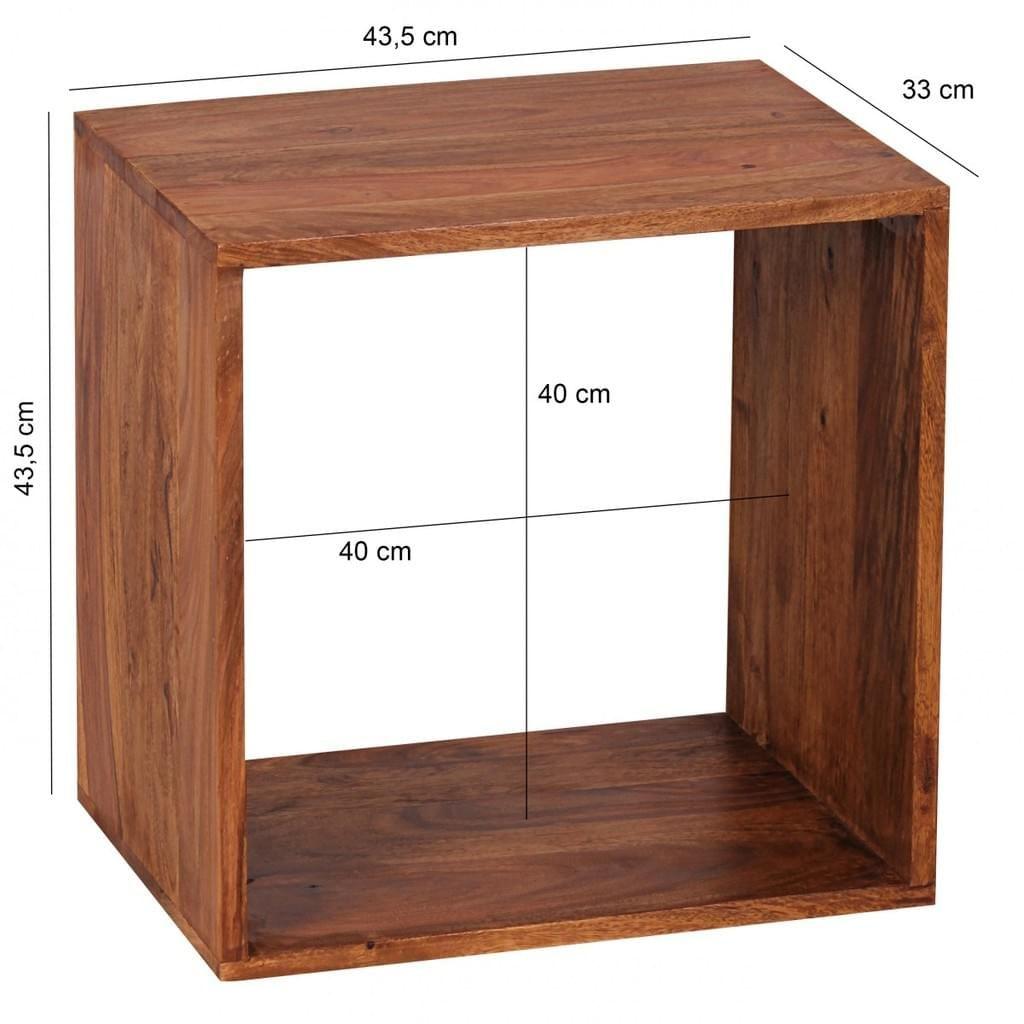 Wohnling Standregal Massivholz Mumbai Sheesham 43 5 Cm Cube Regal Design Holzregal Regal Design Regal Massivholz Holzregal