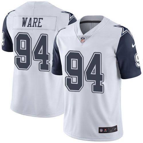 promo code 851e1 0e1c9 Youth Nike Dallas Cowboys #94 DeMarcus Ware Limited White ...
