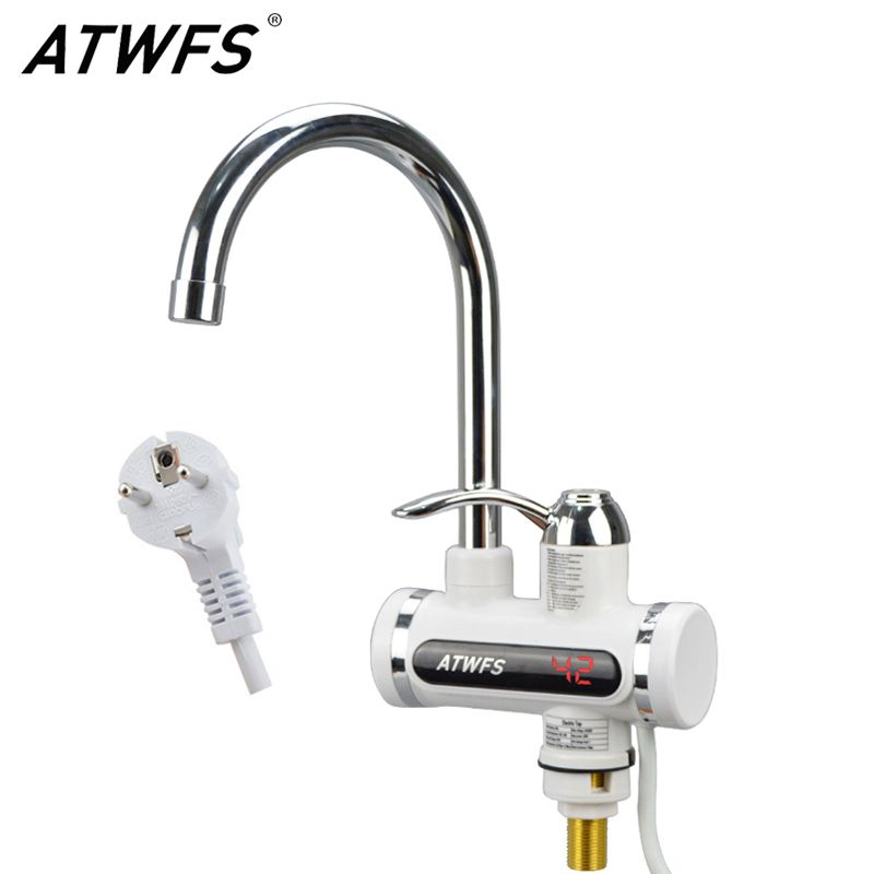 ATWFS Faucet Water Heater Tap Instant Hot Water Faucet Kitchen Tankless Water  Heater Hot And Cold