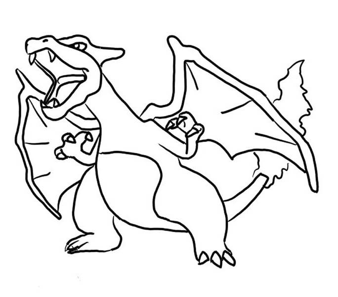 Furious Charizard Coloring Page Netart Pokemon Coloring Pages Super Coloring Pages Coloring Pages