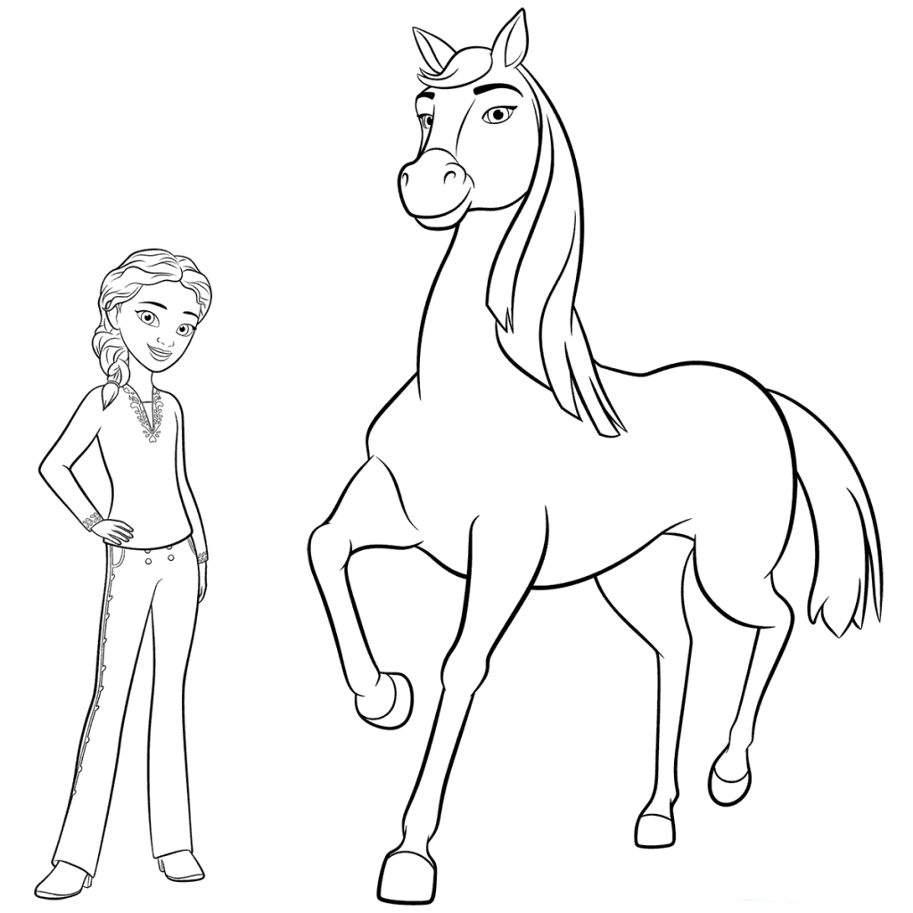 Spirit Riding Free Coloring Pages Horse coloring pages