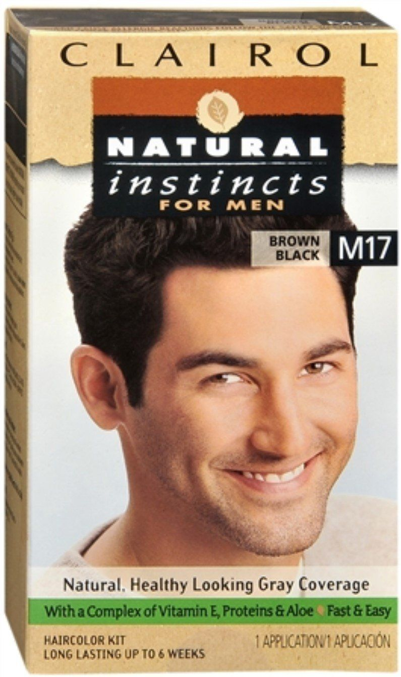 Clairol Natural Instincts for Men Hair Color Brown Black M