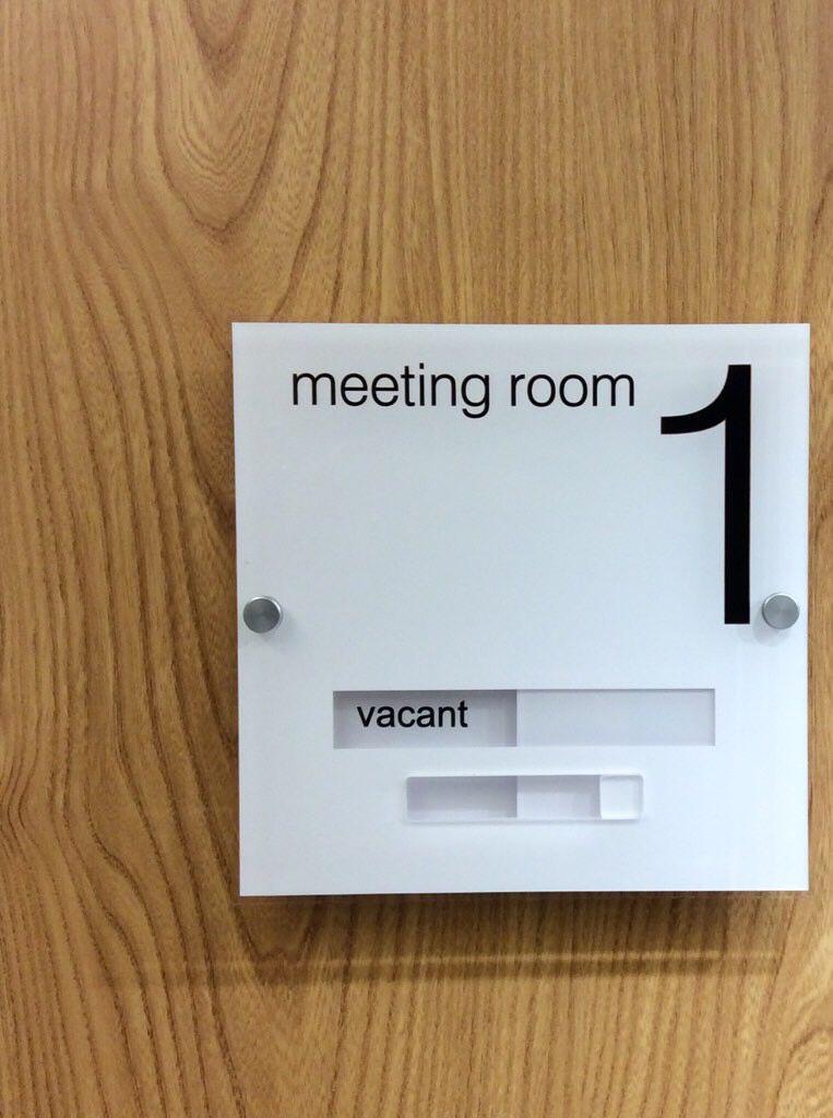 Modern Acrylic Sliding Door Signs
