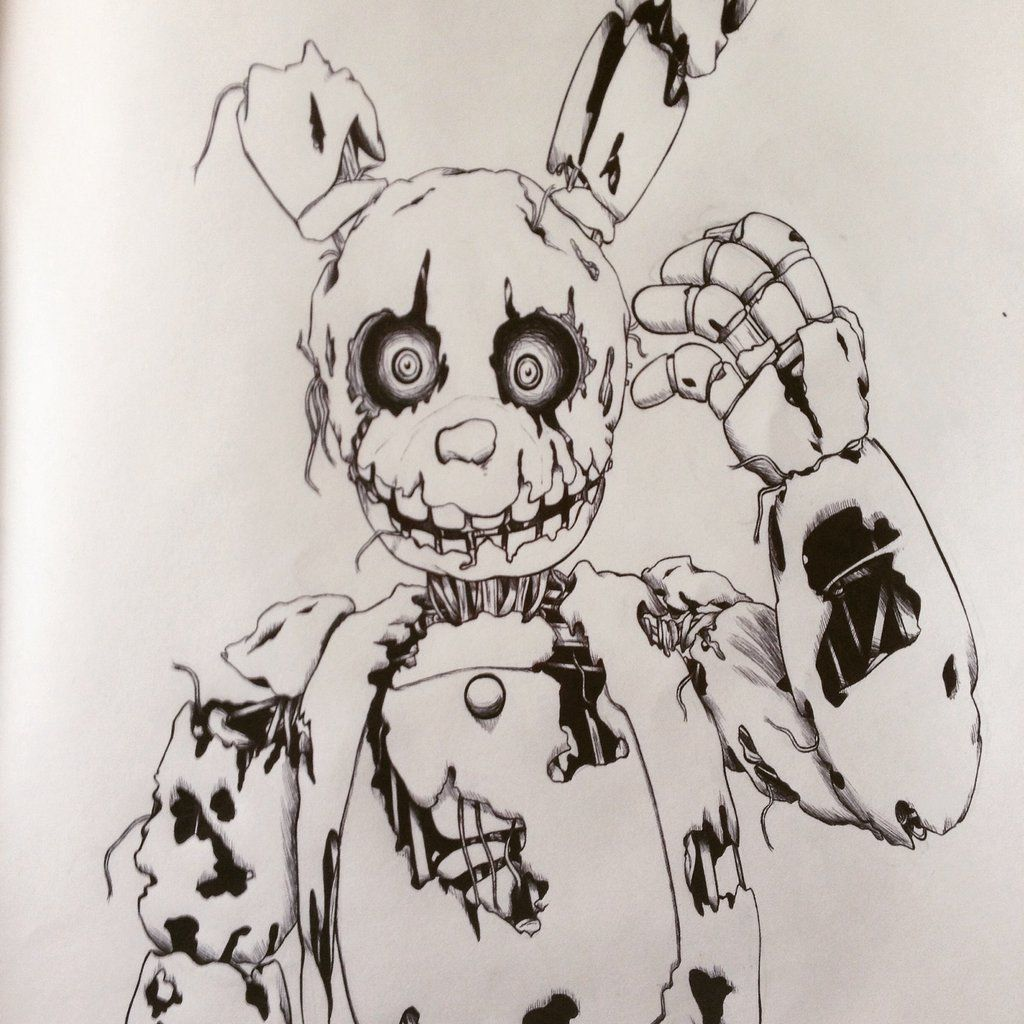 Gmod coloring pages - F Naf Spring Trap Drawing Spring Trap No Color By Crystalx123 On