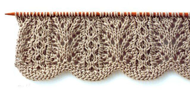 Lace Knitting Stitch With Wavy Edge Translation For Japanese