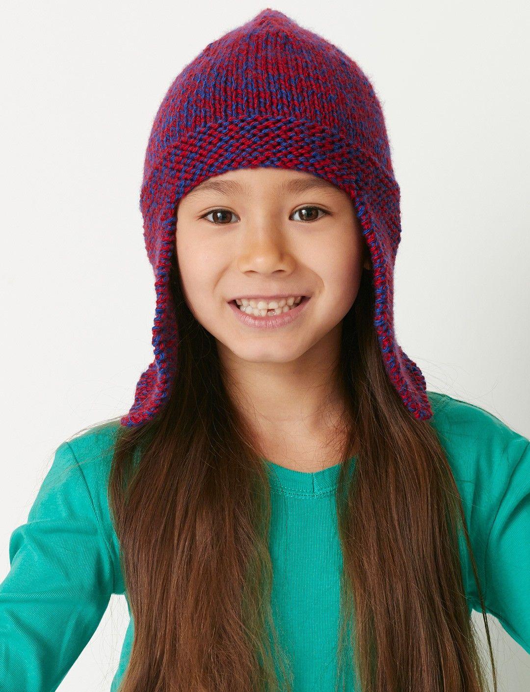 Yarnspirations.com - Bernat Basic Earflap Hat - Patterns ...