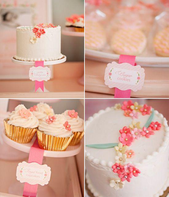 Whole Foods Florist Wedding: Whole Foods White Cake With Fondant Flowers Added