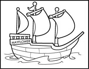 Mayflower Thanksgiving Coloring Pages Cooloring Com