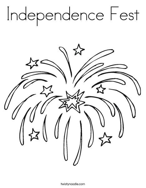 Independence Fest Coloring Page July Colors New Year Coloring