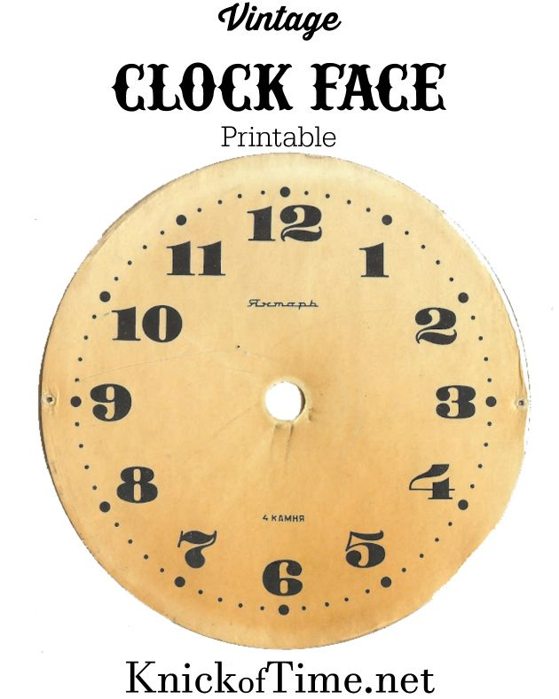 Antique Graphics Wednesday Clock Faces Knickoftime