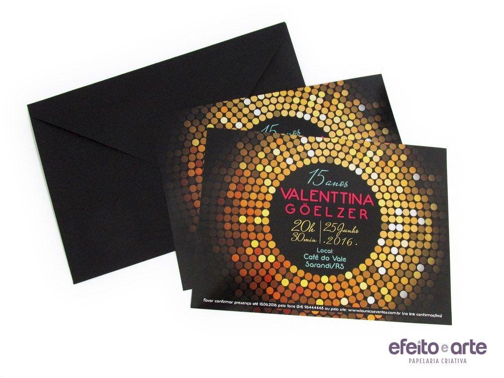 Convite tradicional 15x21cm com envelope padrão