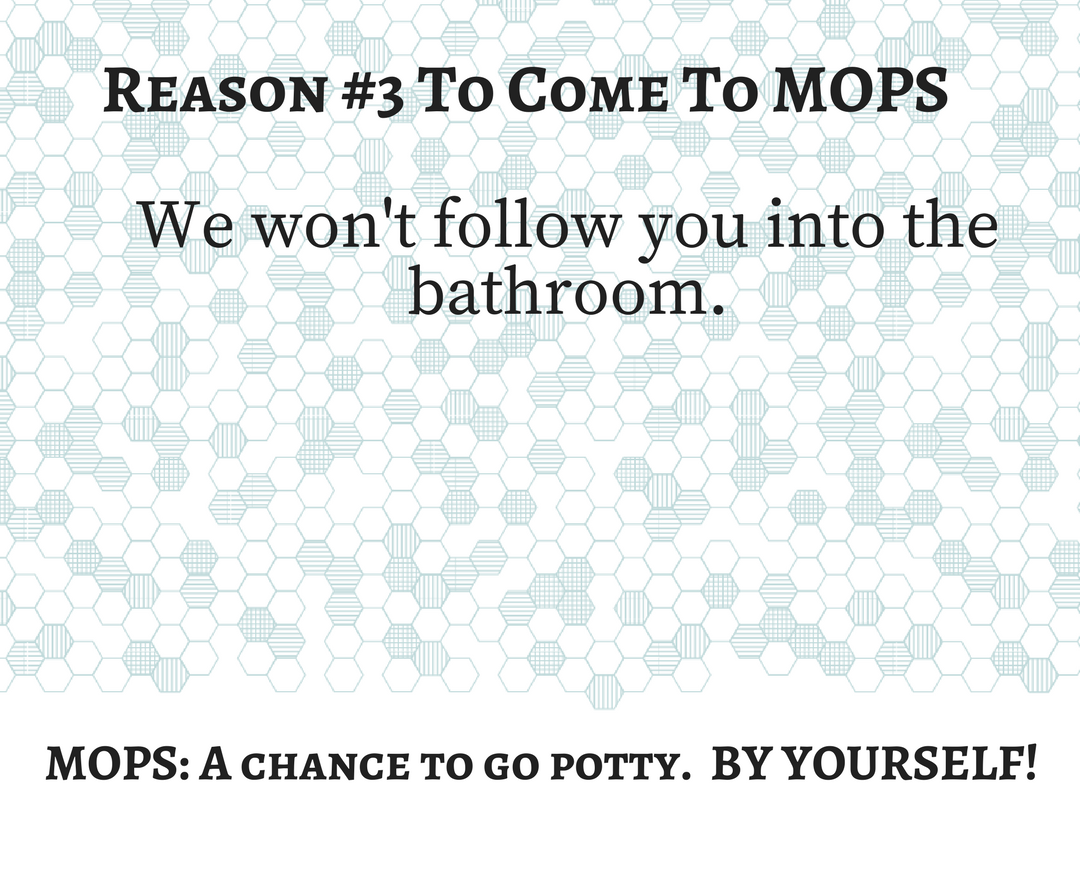 Reason 3 To Come To Mops We Won T Follow You Into The Bathroom Mops A Chance To Go Potty By
