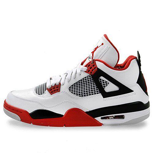Amazon.com: Mens Nike Air Jordan Retro 4 Basketball Shoes White / Black /