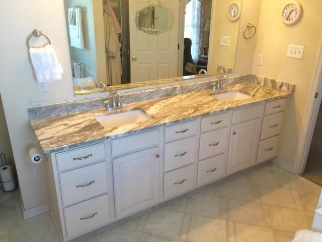 Colonial Heights Va Today We Installed The Fantasy Brown Granite In My Bathroom