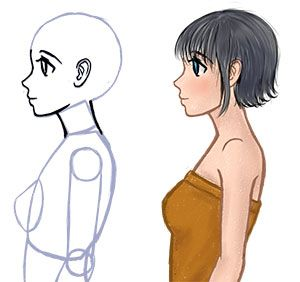 How To Draw The Side Of A Face In Manga Style Manga Tuts Anime Side View Anime Drawings Drawings
