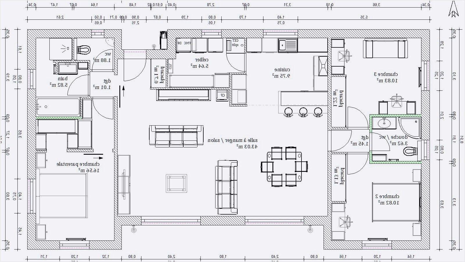 Plan Maison 110m2 Design De Maison Plan Maison 110m2 Plain Pied