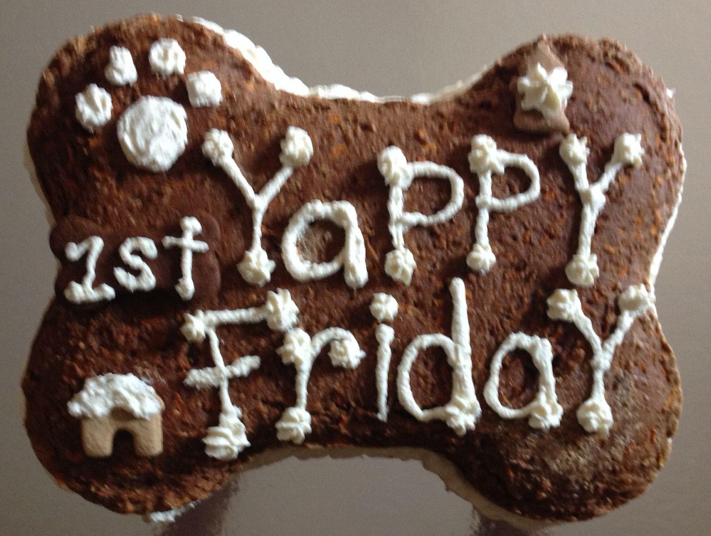Adorable dog birthday cake from Biscotti Hound in Denver www