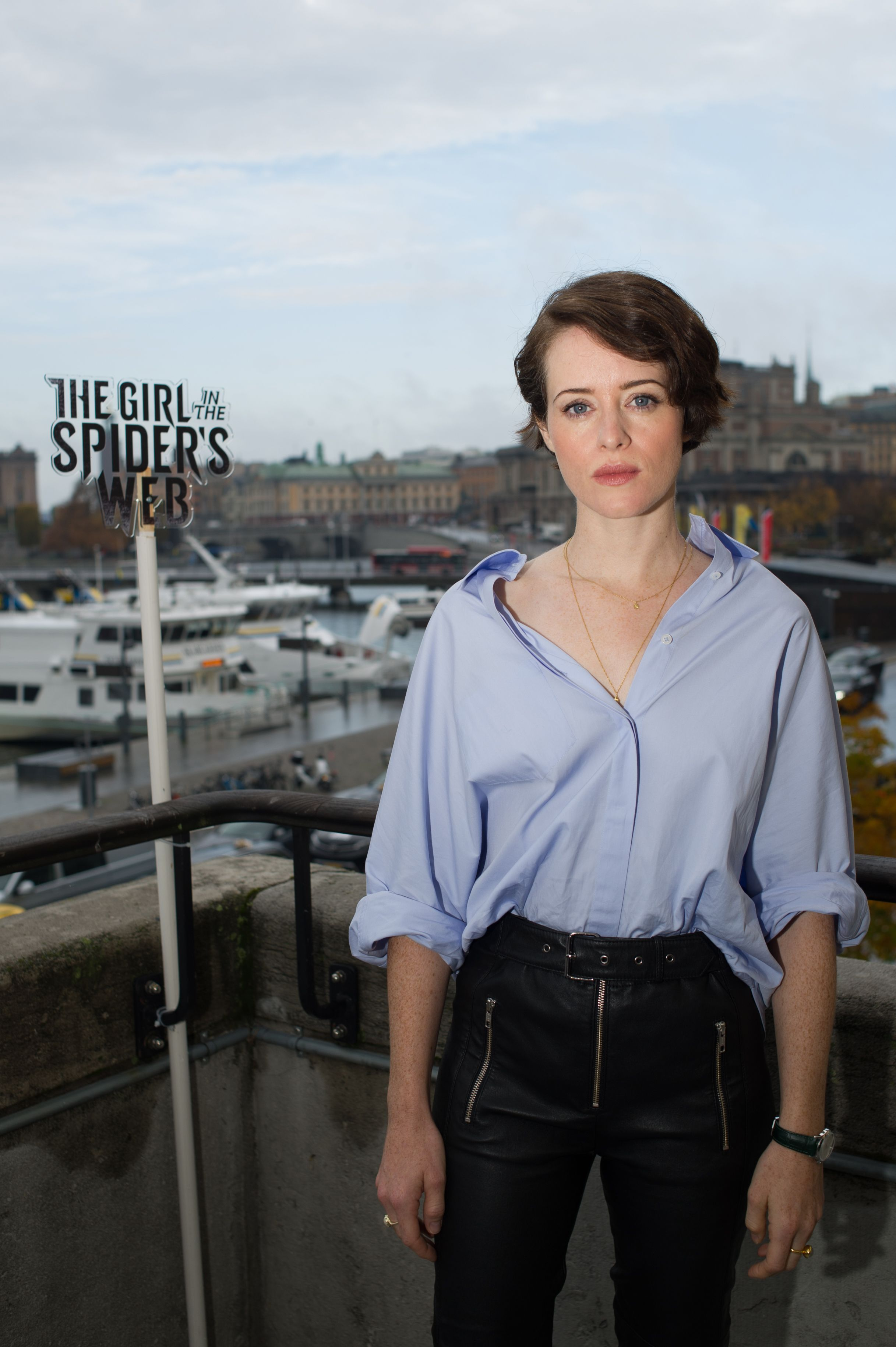 Claire Foy Figures Out The Fascination With Her Spider S Web